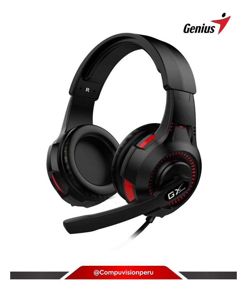 HEADSET GENIUS HS-G600V VIBRATION BLACK C/MICROF