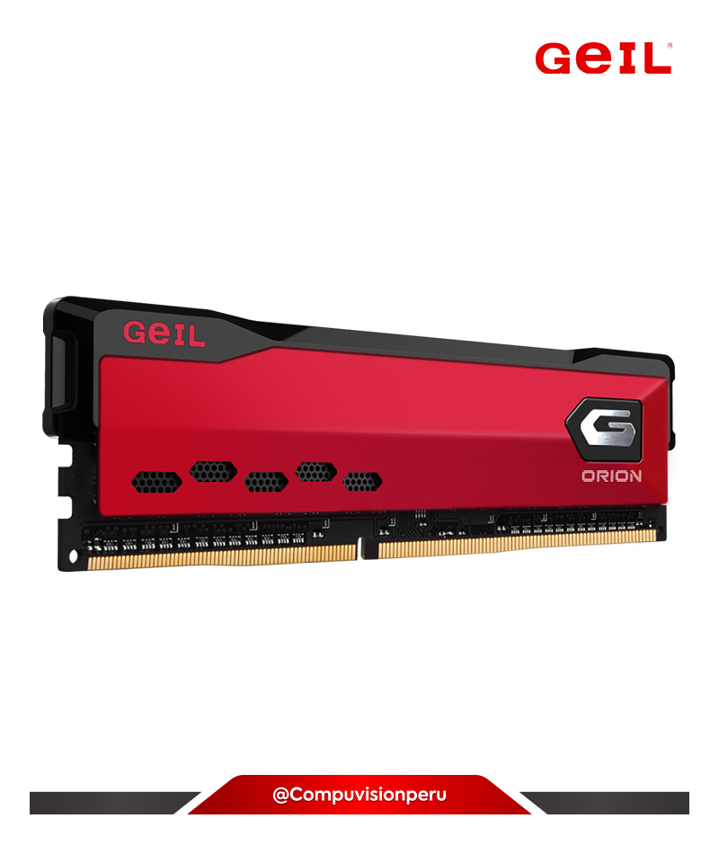 MEMORIA 16GB DDR4 BUS 3000MHZ GEIL ORION RED LAT 16-18-18-36 1.35V GAOR416GB3000C16ASC